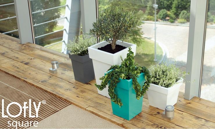blumentopf blumenk bel lofly mit untersetzer 7 farben und 3 gro en neu ebay. Black Bedroom Furniture Sets. Home Design Ideas